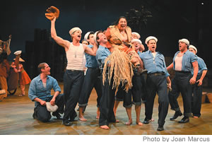 Loretta Ables Sayre and company in a scene from the Lincoln Center Theater production of South Pacific.