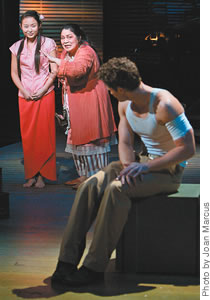 Li Jun Li, Loretta Ables Sayre and Matthew Morrison in a scene from the Lincoln Center Theater production of South Pacific.